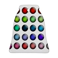 Button Icon About Colorful Shiny Bell Ornament (2 Sides)