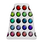 Button Icon About Colorful Shiny Bell Ornament (2 Sides) Back