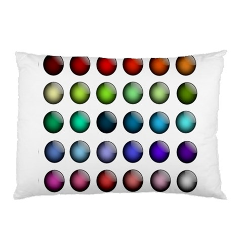 Button Icon About Colorful Shiny Pillow Case (Two Sides)