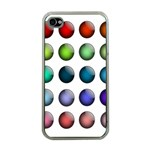 Button Icon About Colorful Shiny Apple iPhone 4 Case (Clear) Front
