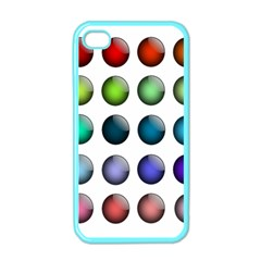Button Icon About Colorful Shiny Apple iPhone 4 Case (Color)