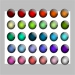 Button Icon About Colorful Shiny Deluxe Canvas 20  x 16   20  x 16  x 1.5  Stretched Canvas