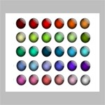 Button Icon About Colorful Shiny Deluxe Canvas 24  x 20   24  x 20  x 1.5  Stretched Canvas