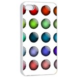 Button Icon About Colorful Shiny Apple iPhone 4/4s Seamless Case (White) Front