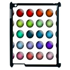 Button Icon About Colorful Shiny Apple iPad 2 Case (Black)