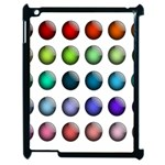 Button Icon About Colorful Shiny Apple iPad 2 Case (Black) Front