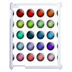 Button Icon About Colorful Shiny Apple iPad 2 Case (White) Front