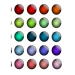 Button Icon About Colorful Shiny Circle 3D Greeting Card (7x5) Inside