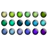 Button Icon About Colorful Shiny PARTY 3D Greeting Card (8x4) Front