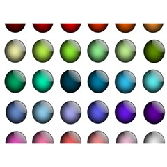 Button Icon About Colorful Shiny Birthday Cake 3D Greeting Card (7x5)