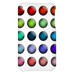 Button Icon About Colorful Shiny Apple iPhone 3G/3GS Hardshell Case
