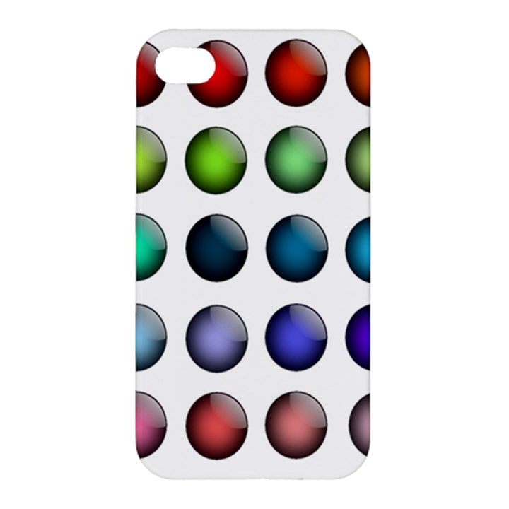 Button Icon About Colorful Shiny Apple iPhone 4/4S Hardshell Case