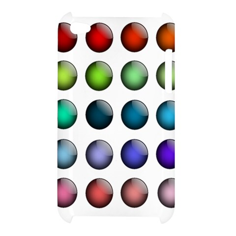 Button Icon About Colorful Shiny Apple iPod Touch 4