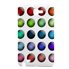 Button Icon About Colorful Shiny Samsung Galaxy Note 1 Hardshell Case