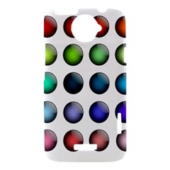 Button Icon About Colorful Shiny HTC One X Hardshell Case