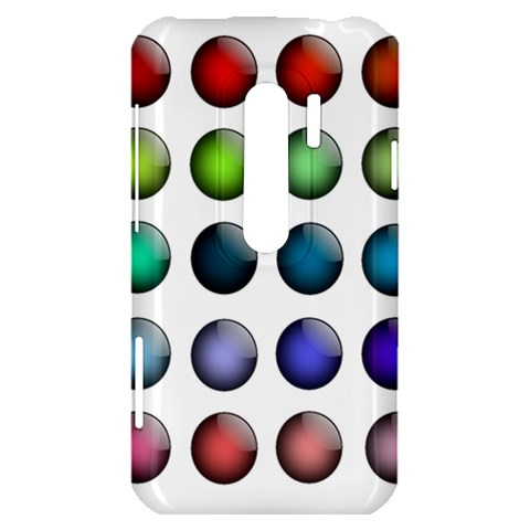 Button Icon About Colorful Shiny HTC Evo 3D Hardshell Case