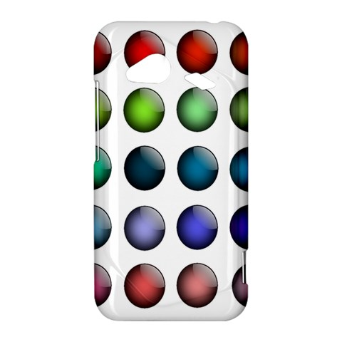 Button Icon About Colorful Shiny HTC Droid Incredible 4G LTE Hardshell Case