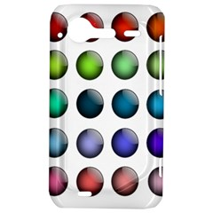 Button Icon About Colorful Shiny HTC Incredible S Hardshell Case