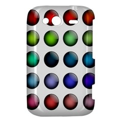 Button Icon About Colorful Shiny HTC Wildfire S A510e Hardshell Case