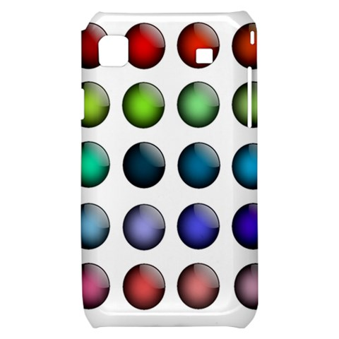 Button Icon About Colorful Shiny Samsung Galaxy S i9000 Hardshell Case