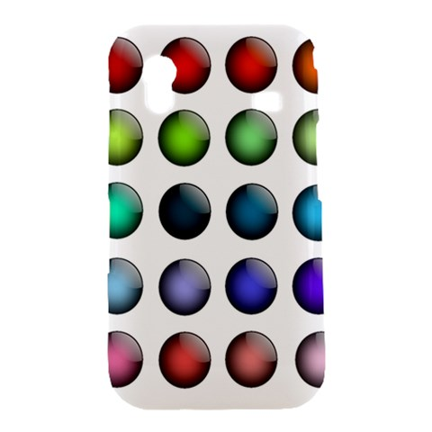 Button Icon About Colorful Shiny Samsung Galaxy Ace S5830 Hardshell Case