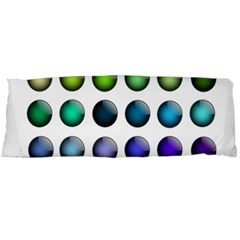 Button Icon About Colorful Shiny Body Pillow Case (Dakimakura)