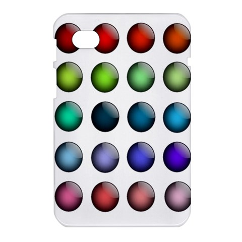 Button Icon About Colorful Shiny Samsung Galaxy Tab 7  P1000 Hardshell Case