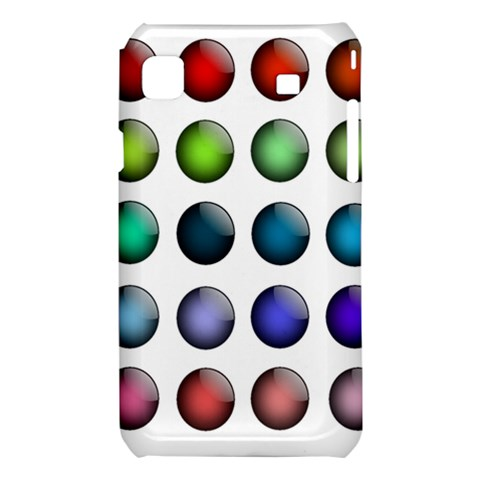 Button Icon About Colorful Shiny Samsung Galaxy S i9008 Hardshell Case