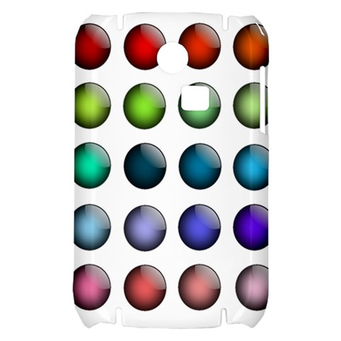 Button Icon About Colorful Shiny Samsung S3350 Hardshell Case
