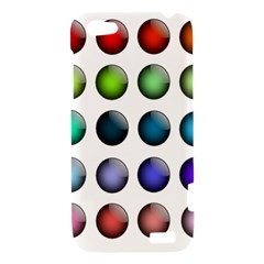 Button Icon About Colorful Shiny HTC One V Hardshell Case