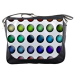 Button Icon About Colorful Shiny Messenger Bags Front
