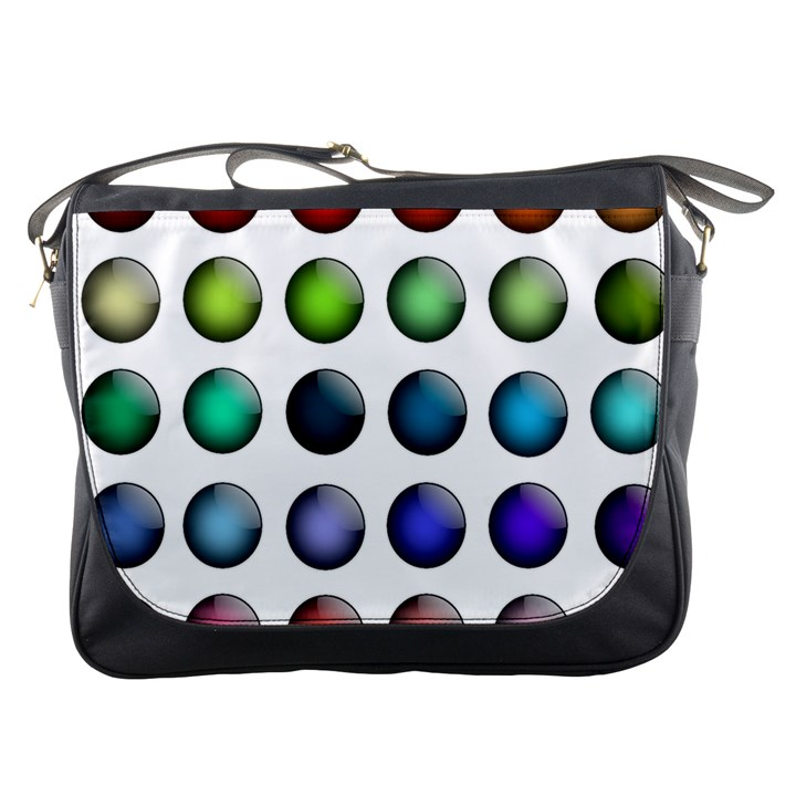 Button Icon About Colorful Shiny Messenger Bags