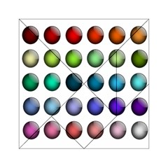 Button Icon About Colorful Shiny Acrylic Tangram Puzzle (6  x 6 )
