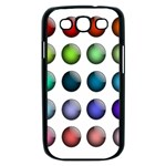 Button Icon About Colorful Shiny Samsung Galaxy S III Case (Black) Front