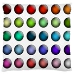 Button Icon About Colorful Shiny Large Cushion Case (Two Sides) Back