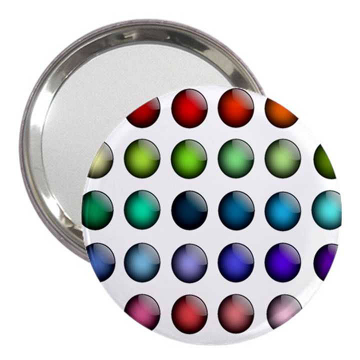Button Icon About Colorful Shiny 3  Handbag Mirrors