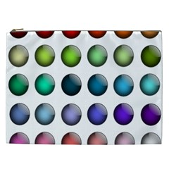 Button Icon About Colorful Shiny Cosmetic Bag (XXL)