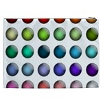 Button Icon About Colorful Shiny Cosmetic Bag (XXL)  Back