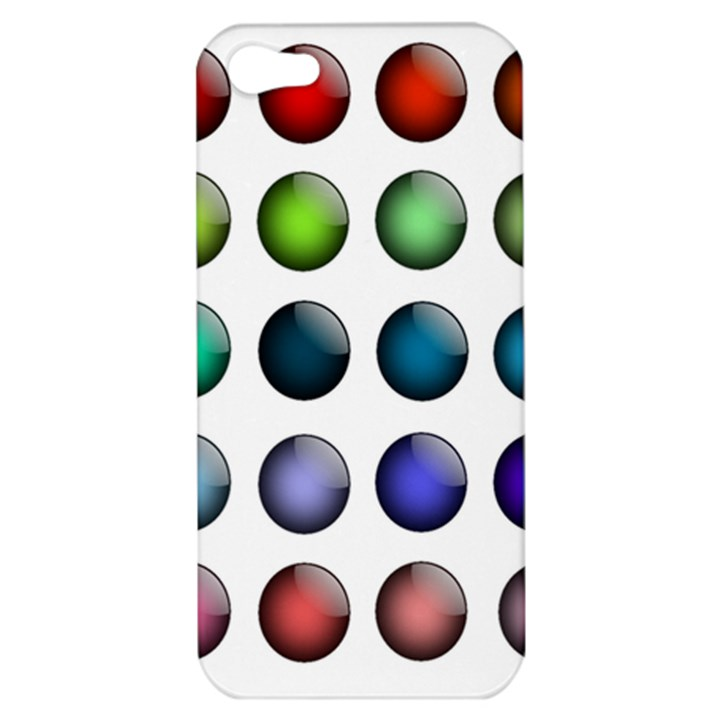 Button Icon About Colorful Shiny Apple iPhone 5 Hardshell Case