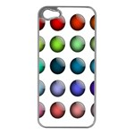Button Icon About Colorful Shiny Apple iPhone 5 Case (Silver) Front