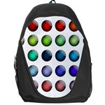 Button Icon About Colorful Shiny Backpack Bag Front