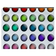 Button Icon About Colorful Shiny Cosmetic Bag (XXXL)