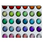 Button Icon About Colorful Shiny Cosmetic Bag (XXXL)  Back