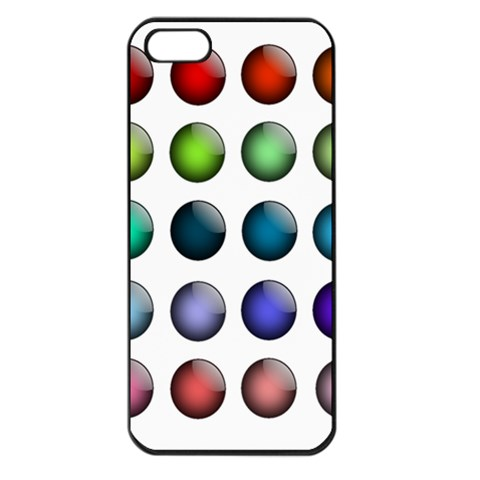 Button Icon About Colorful Shiny Apple iPhone 5 Seamless Case (Black)