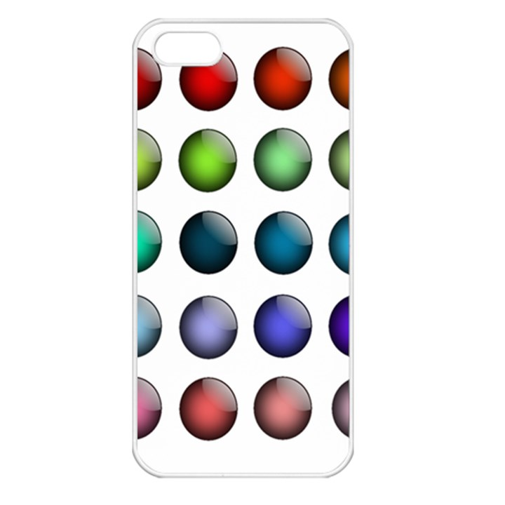 Button Icon About Colorful Shiny Apple iPhone 5 Seamless Case (White)