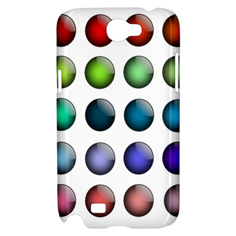 Button Icon About Colorful Shiny Samsung Galaxy Note 2 Hardshell Case