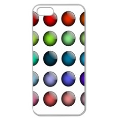 Button Icon About Colorful Shiny Apple Seamless iPhone 5 Case (Clear)