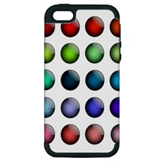 Button Icon About Colorful Shiny Apple iPhone 5 Hardshell Case (PC+Silicone)