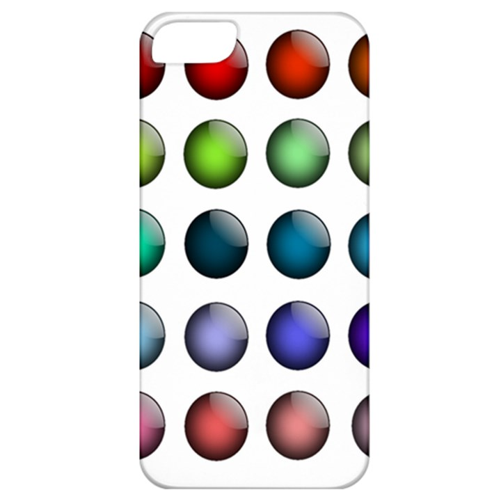 Button Icon About Colorful Shiny Apple iPhone 5 Classic Hardshell Case