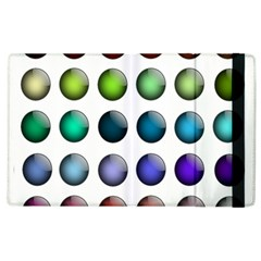 Button Icon About Colorful Shiny Apple iPad 3/4 Flip Case